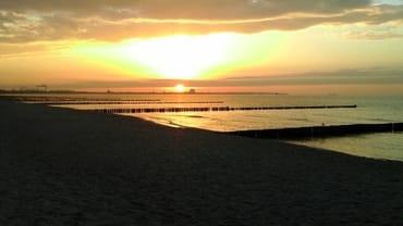 Sonnenuntergang am Strand von Glowe
