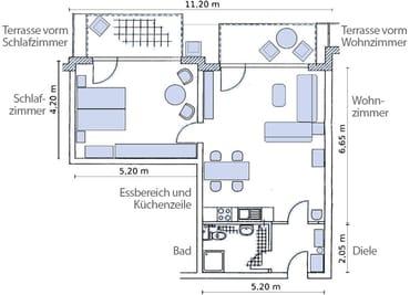 Grundriss - Details unter http://ferienwohnung2-glowe.de