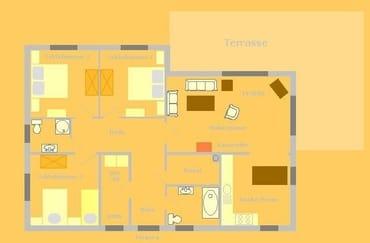 Grundriss EG-Wohnung 115 qm