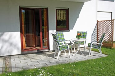 Terrasse der Wohnung W06