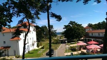 Blick vom Balkon und Loggia