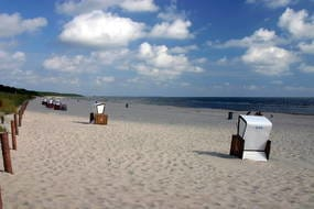 wunderbar breiter und feinsandiger Ostseestrand