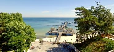 Abgang Strand Seebrücke