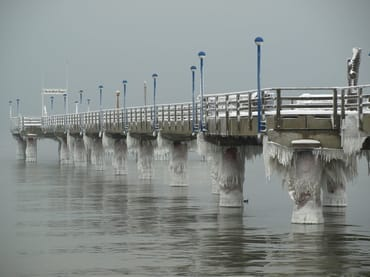 Die Seebrücke im Winter