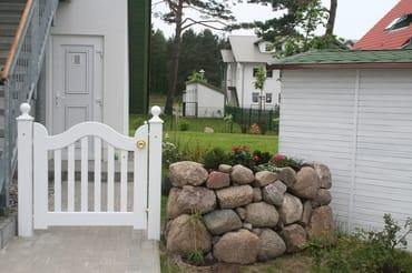 Eingang Ferienwohnung mit großem abgeschlossenen Garten zur alleinigen Nutzung