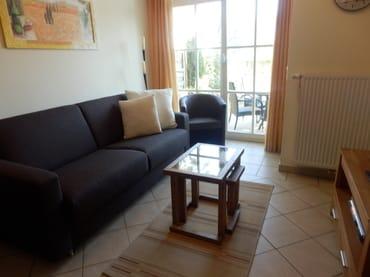 Wohnzimmer mit Ostseeblick
