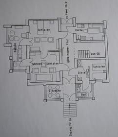 Grundriss Fewo EG-1 Villa