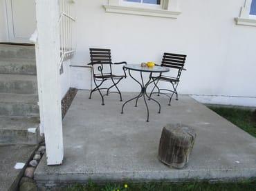 Gartenhaus 1, Terrasse