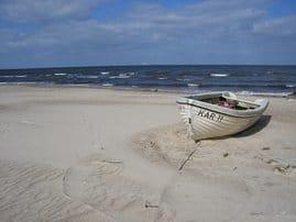 Der schöne feinsandige Strand