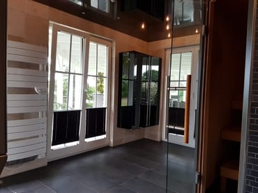 Saunabereich im Nebengebäude