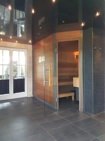 Sauna sowie Infrarotkabine im  Nebengebäude