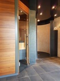 Sauna und Infrarotkabine im Nebengebäude