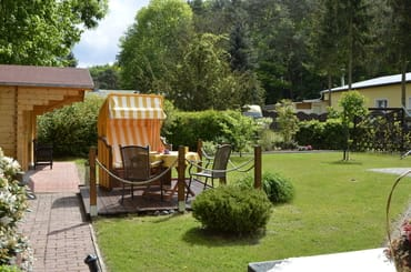 Sitzecke mit Garten