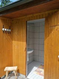 Dusche direkt nebenan