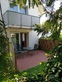 Terrasse Wohnung Oie und Balkon Wollin
