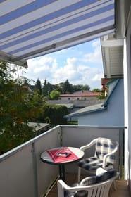 Balkon der Ferienwohnung Usedom