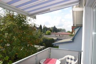Aussicht vom Balkon der Ferienwohnung Usedom