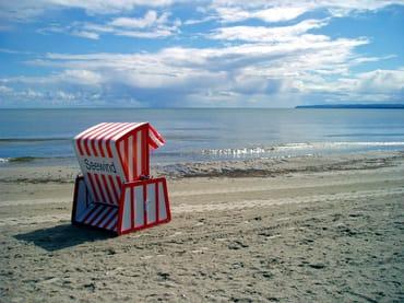 Exklusiv für Gäste unserer Ferienwohnung Seewind: eigener Strandkorb.