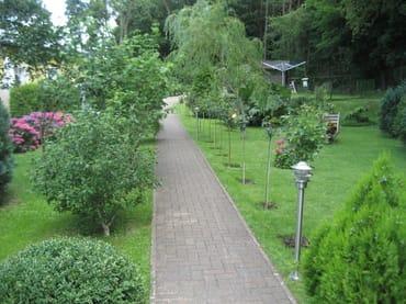 die Gartenanlage