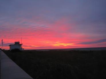 Spektakuläre Sonnenuntergänge sind nicht selten!
