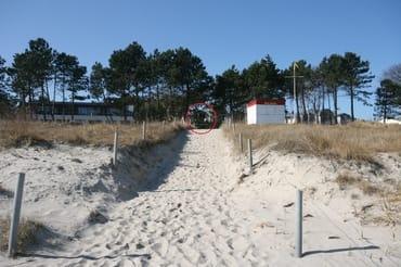 direkt am DLRG-bewachten Sandstrand