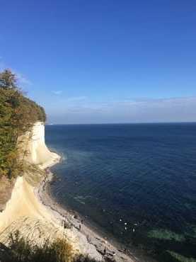 Wanderung an der Steilküste direkt von unserer Ferienwohnung aus