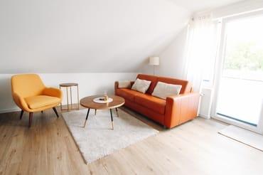 Wohnzimmer Ferienwohnung links