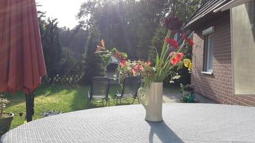 Blick von Terrasse ins Grüne