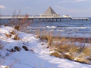 Seebrücke Heringsdorf im Winter