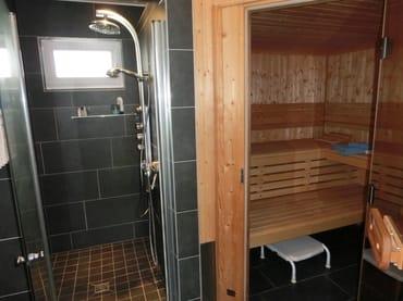 Sauna, Dusche