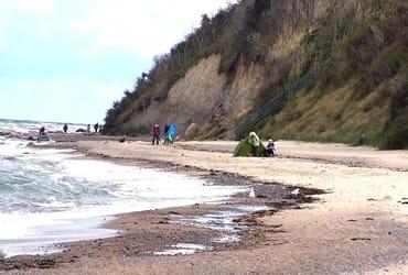 Der Strand von Kreptitz nahe Lancken