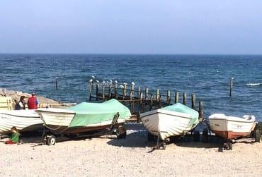 Der Hafen des historischen Fischerdörfchens Vitt, nahe Kap Arkona