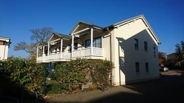 rückwärtige Ansicht Haus MAX im Fischerweg  Herbst 2018
