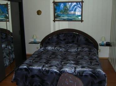 Doppelschlafbett im Schlafwohnraum