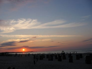 Sonnenaufgang am Ostseestrand