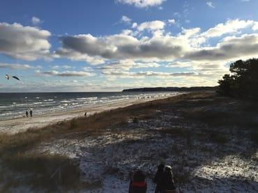 Strand Baabe im Winter 2018