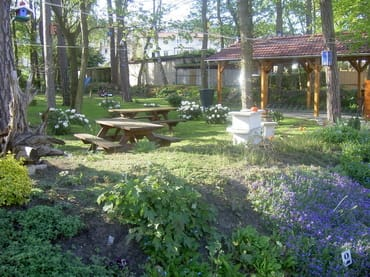 Garten mit Grillplatz und Fahrrädercarport  für Haus & Villa Waterkant