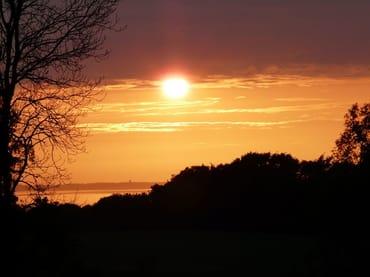 Romantische Sonnenuntergänge - im Garten zu Bestaunen