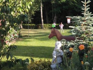 Garten an der Südseite zum Wald hin.