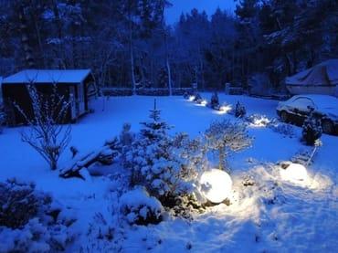 bei Dunkelheit und Winterzeit ist es gut beleuchtet