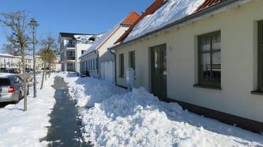 Ernst-Thälmann-Straße im Winter