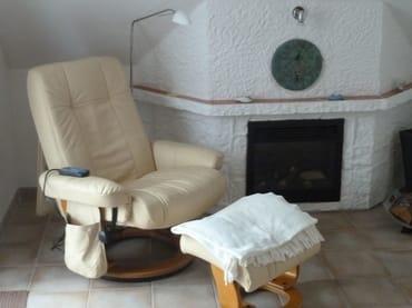 Elektronik-Kamin mit Relax-Sessel