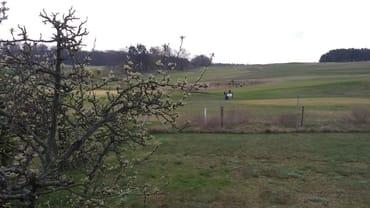 Blick von der Terrasse auf den Golfplatz