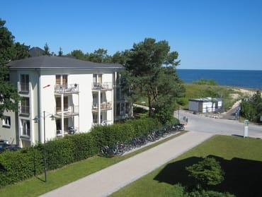 Der Pfeil weist auf Wohnung 15 der Strandoase.