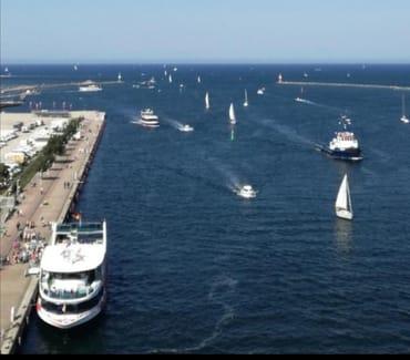 Hafeneinfahrt von Warnemünde