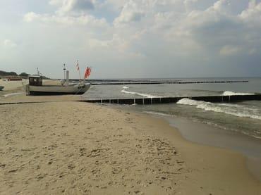 Strand an der Koserower Seebrücke