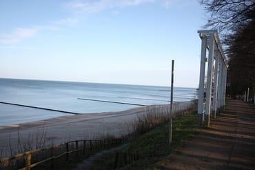 Blick von der Strandpromenade