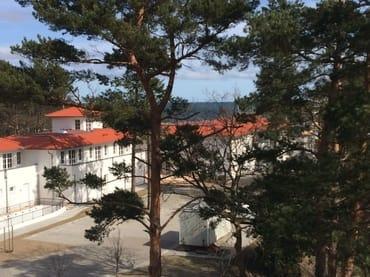 neue Umgebung der Residenz, neuer Blick auf Ostsee am Horizont