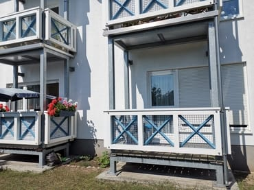 HInteransicht mit Balkon