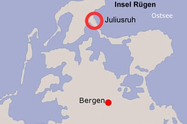Lage von Juliusruh auf Rügen